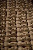 Keramische Miniaturköpfe Lizenzfreies Stockfoto