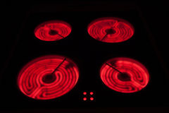 Keramische Ofen-Oberseite Stockbild