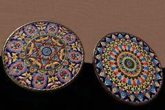 Keramische Produkte, die Stadt von Toledo, Spanien Stockfotos