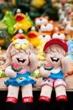 Keramische Puppen Lizenzfreies Stockfoto