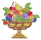 Keramische Schüssel mit Früchten Stockfoto