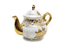 Keramische Teekanne Stockfoto