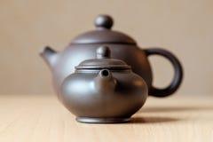 Keramische Teekannen Stockbild