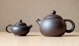Keramische Teekannen Stockfotografie