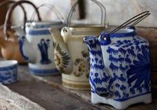 Keramische Teetöpfe Lizenzfreies Stockbild