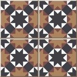 Keramische tegelpatroon 323 dwars de driehoeksmeetkunde van de achthoekster vector illustratie