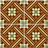 Keramische tegelpatroon 387 vierkant controle ggeometry mozaïek Stock Afbeeldingen