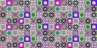Keramische tegelspatronen vector illustratie