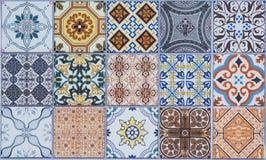 Keramische tegelspatronen royalty-vrije illustratie