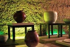 Keramische Vasen und Töpfe Lizenzfreies Stockbild