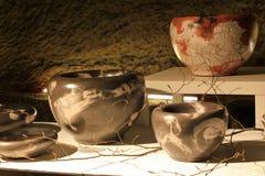 Keramische Vasen und Töpfe Lizenzfreie Stockbilder