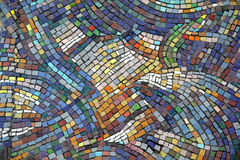 Keramischer Mosaikhintergrund Stockbild