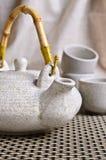 Keramischer Satz für Teezeremonie Lizenzfreies Stockfoto
