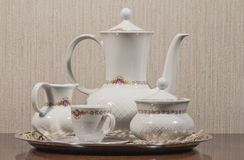 Keramischer Teesatz Lizenzfreie Stockfotos