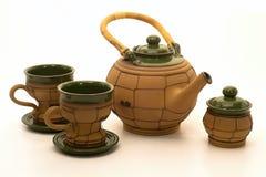 Keramischer Teesatz Stockfotos
