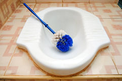 Keramischer Toilette/Waschraum Stockbild