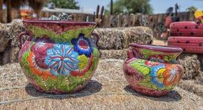 Keramischer Topf, Tubac Arizona Stockfotografie