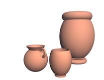 Keramischer Vase lokalisierte Gegenstände lizenzfreie abbildung