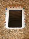 Keramisches Fenster des Parks Stockbilder