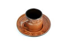 Keramisches Land-Cup Lizenzfreie Stockfotografie