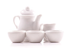 Keramisches Tee-Miniset Stockbild