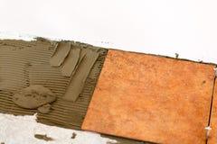 Keramisches tliles Legen Lizenzfreies Stockbild
