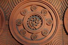 keramisk dekorativ tegelplatta royaltyfri bild