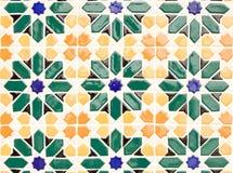 keramisk färgrik texturtappning Arkivbild