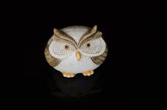keramisk gullig owl Arkivbilder