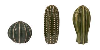 Keramisk kaktus för isolerad garnering Royaltyfri Foto