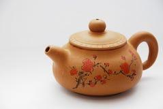 keramisk kinesisk teapot Arkivbild