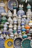keramisk krukmakeri shoppar Royaltyfria Bilder