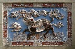 Keramisk mosaiklättnadsgarnering Arkivfoto