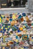 keramisk mosaikvägg Arkivbild