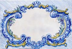 keramisk ram glasad gammal tegelplatta Royaltyfri Bild