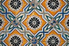 keramisk spansk stil tiles tappning royaltyfri bild