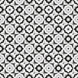 Keramisk svartvit tegelplattadesign för sömlös modell Royaltyfria Bilder