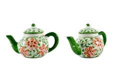 keramisk teakettle Fotografering för Bildbyråer