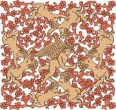 keramisk tegelplatta för änglar vektor illustrationer