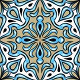 Keramisk tegelplatta för portugisisk azulejo stock illustrationer