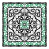 Keramisk tegelplatta med den färgrika patchworken Den ändlösa modellen kan användas för den keramiska tegelplattan, tapeten, lino Fotografering för Bildbyråer