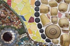 keramisk texturvägg royaltyfri foto