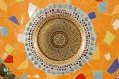 keramisk texturvägg Arkivbild