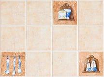keramisk vägg Arkivbild