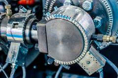 Keramisk värmeapparat för klämma Uppvärmningsystem för rör för plast- injektionstöpningsmaskiner arkivbilder