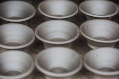 Keramiska Clay Pot Natural Background arkivbild