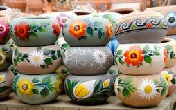 keramiska dislpay krukar för mexikan n arkivfoton