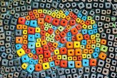 Keramiska färgrika geometriska former Arkivfoton