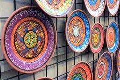 keramiska handgjorda plattor Arkivbild