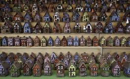 keramiska hus Arkivfoto